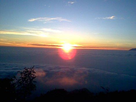 Sunrise in MERAPI
